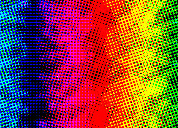 Color Halftone: If you like my artwork, please go to my Facebook Business Page and like it: Billy Frank Alexander Design ~ 