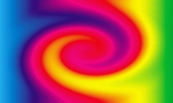 Color Twirl: Color Twirl on Canvas.