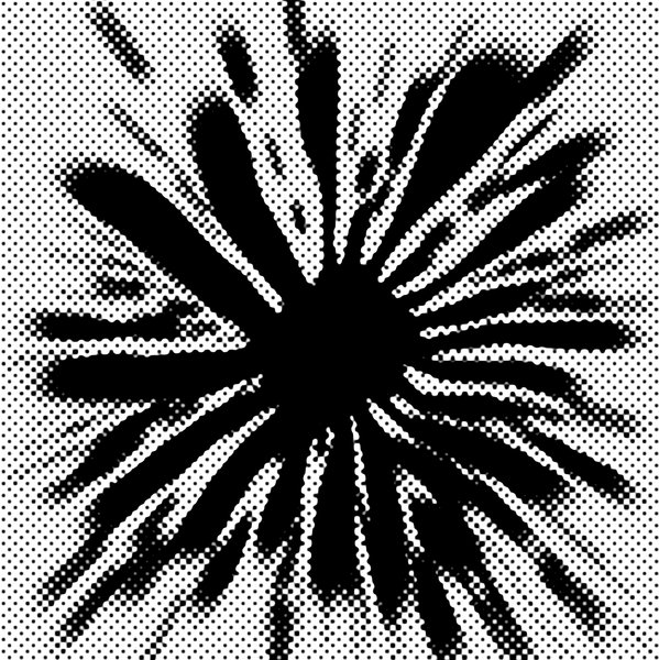 Splat Halftone: Splat Halftone Dot Pattern B&W Graphic.Please visit my stockxpert gallery:http://www.stockxpert.com ..