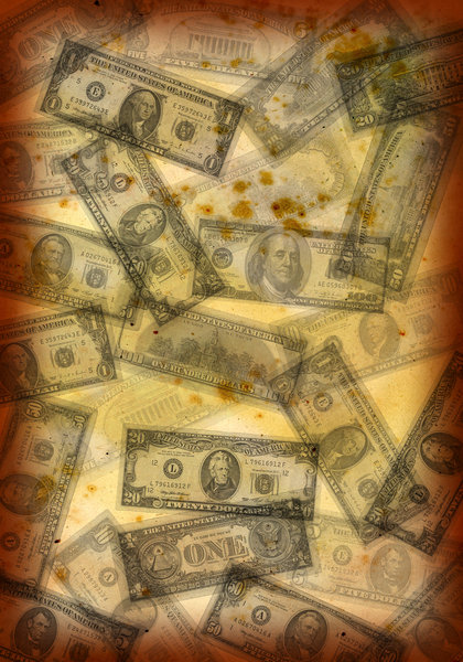 Grunge Money: Grunge texture created using money.Please visit my stockxpert gallery:http://www.stockxpert.com ..