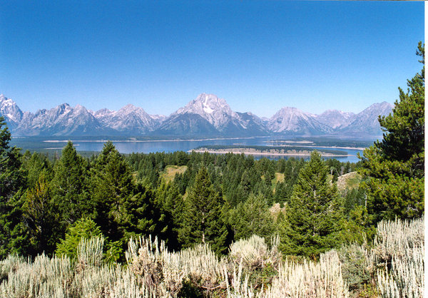 Grand Teton National park: Landscape of Grand Teton's mountains