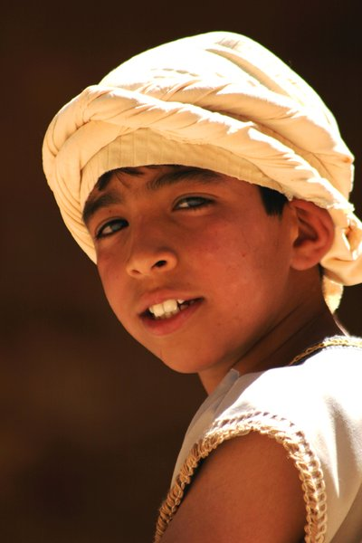 Young beduin: Portrait of a young beduin in Petra (Jordan)