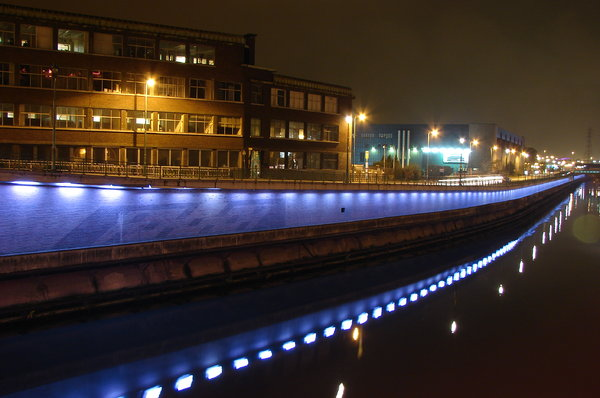 Charleroi Belgium  city images : Charleroi, Belgium: By night, Charleroi. A pic I took on a bridge over ...
