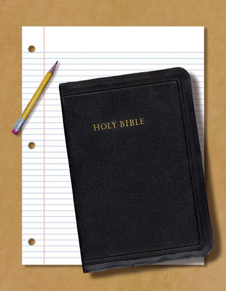 Take Notes: A Lo Res version of a Bible study collage.For Hi Res, please visit:http://www.stockxpert.com ..