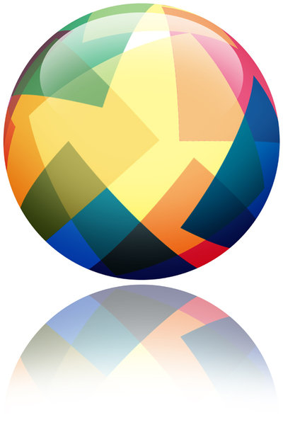 Paper Ball: A colorful ball.For Hi Res, please vist:http://www.stockxpert.com ..