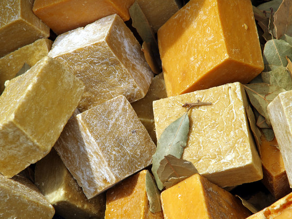 Natural soap 1: Natural soap made of pure olive oil and herbal extracts in Şirince/Turkey