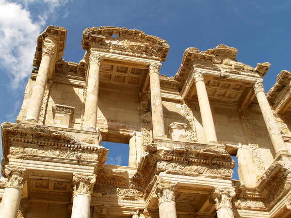 Ephesus 1: Ruins and mosaics in the antique city of Ephesus, Aegean coast of Turkey