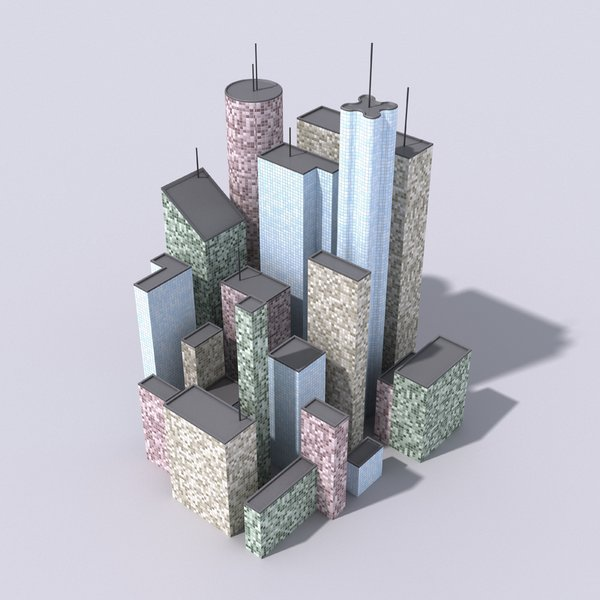 City Buildings: An abstract picture of a city with buildings