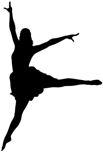 Dancer Silhouette: Vector Art