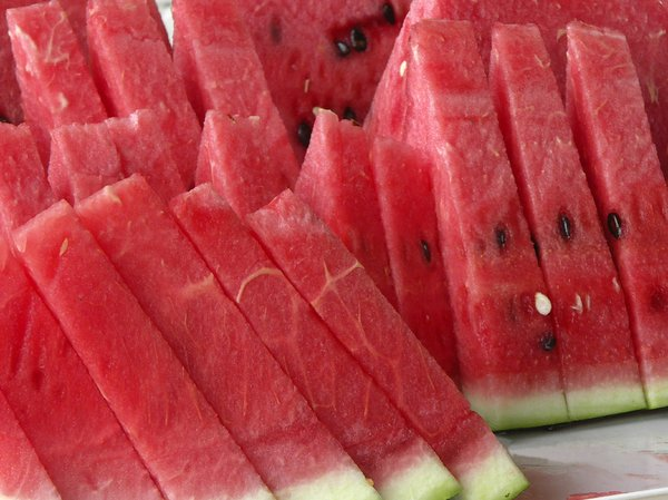 Watermelon slices: Triangle slices of water melon
