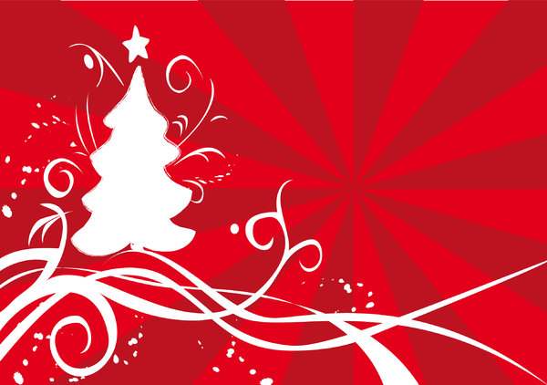 Christmas  card: vector illustration in illustrator