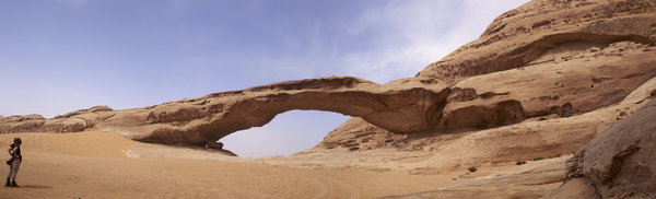 Sandstone bridge: Sandstone bridge in Wadi Rum desert, Jordan