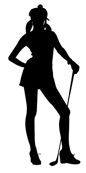 Golfer Girl2: Vector Art