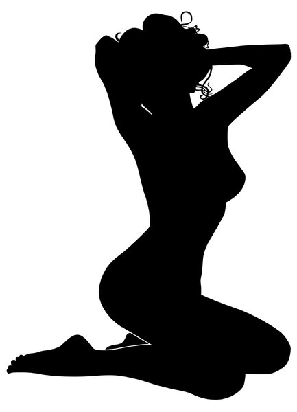 Silhouette Pose 37: Vector Art