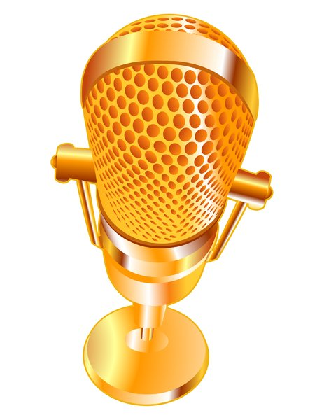 Golden Mic: Old-time Microphone