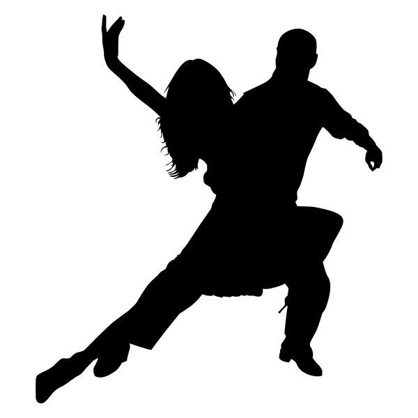 Ballroom Dancing Silhouette Vector Tango 3 Silhouette