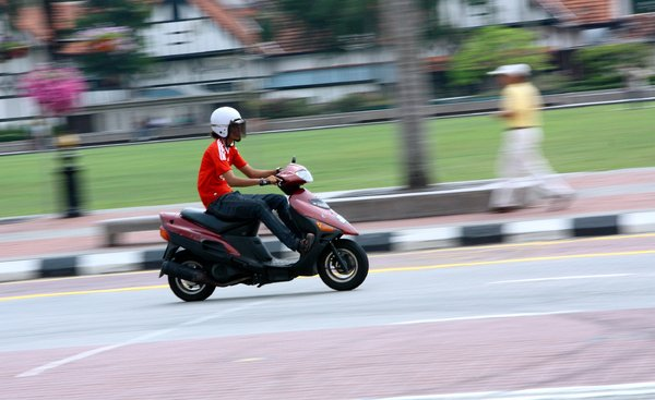 Motorcycle riders 2: Snapshots of people riding on motorcycles