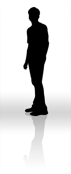 Silhouette: Silhouette  of a teenager