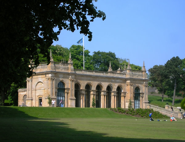 Old pavilion 1: Pavilion from 19th century situated in Baxter Park, Dundee, Scotland