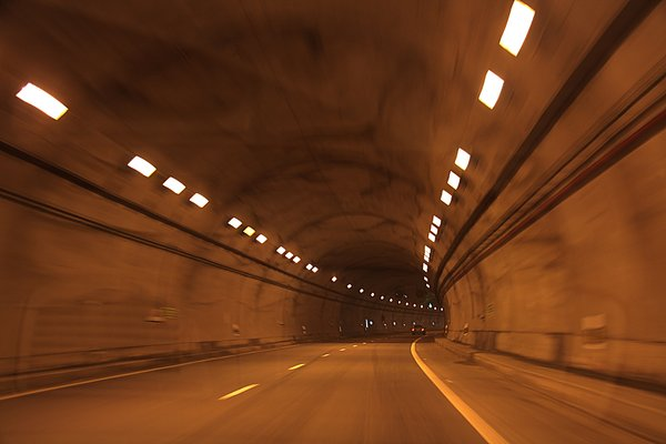 Blurred tunnel: Blurred tunnel