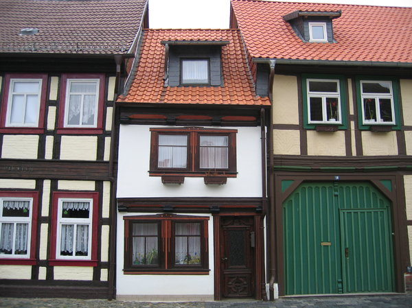 old half-timbered house in wer: old half-timbered house in wernigerode