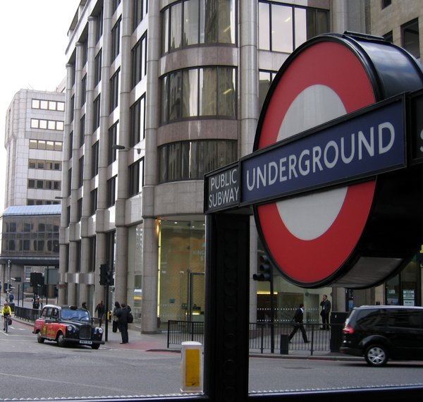 london houses and underground : london houses and underground station