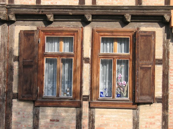 old wooden windows: old wooden windows