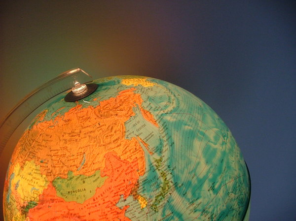 Light of the world.: The globe I have in my bedroom.