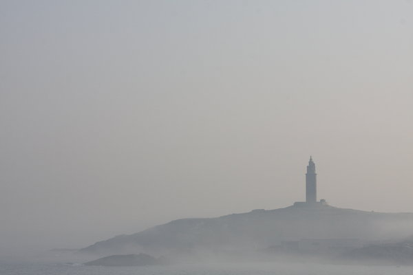 Foggy tower: Foggy tower. The Hercules Tower is included in the World Heritage List. The Tower of Hercules is testimony to the use of lighthouses in antiquity. The Tower is also proof of the continuity of the Atlantic route since Roman Empire times.