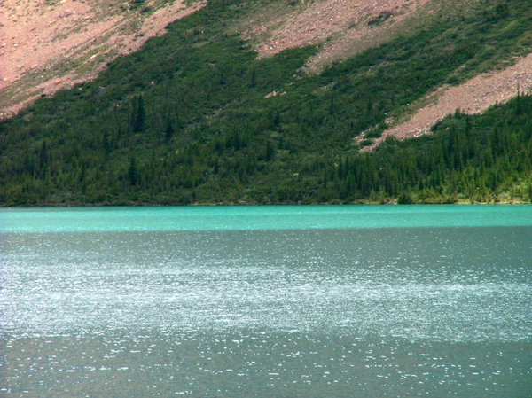Blue water: Taken in summer 2006, near Jasper, Canada.