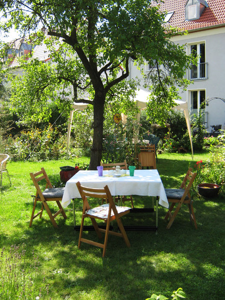 garden dream: a beautifull table in the garden