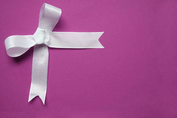 bow 2: just a simple white ribbon on different paper