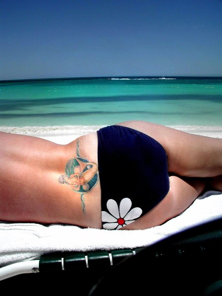 beach tattoo: n/a