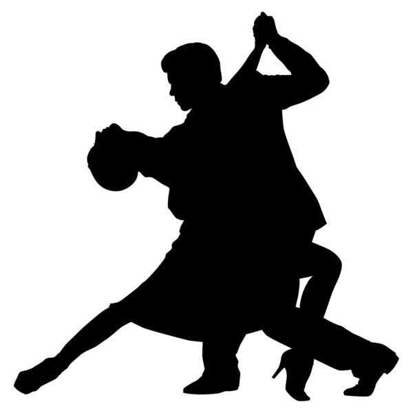 Ballroom Dancing Silhouette Vector Tango 1 Silhouette