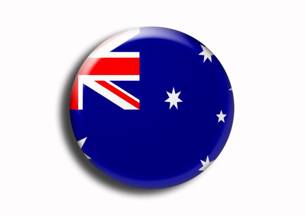 Australia: The Australian national flag on a button