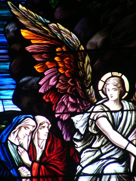 Original: Original stained glass window from which I took the wings for a photo in my sxc collection