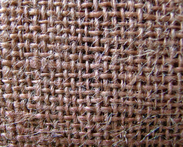 Burlap: This is an old burlap bag that I had, I love the color and texture.