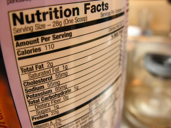 Nutrition Facts: This is the nutritional label from my breakfast drink mix, it might be good for something food or diet  related?? :-)