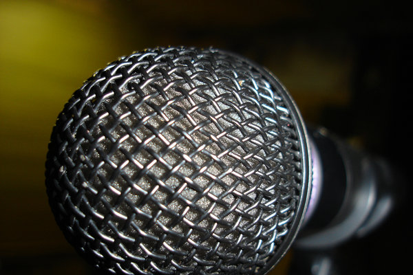 Open Mic Night: This was an extreme close up of a microphone