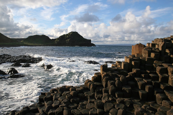 Giant's Causeway 3: Hexagonal basalt columns of the Giant's Causeway, Northern Ireland