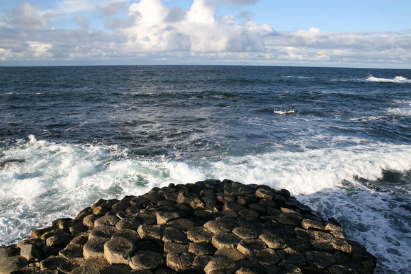 Giant's Causeway 5: The tip of the hexagonal basalt columns of the Giant's Causeway, Northern Ireland.