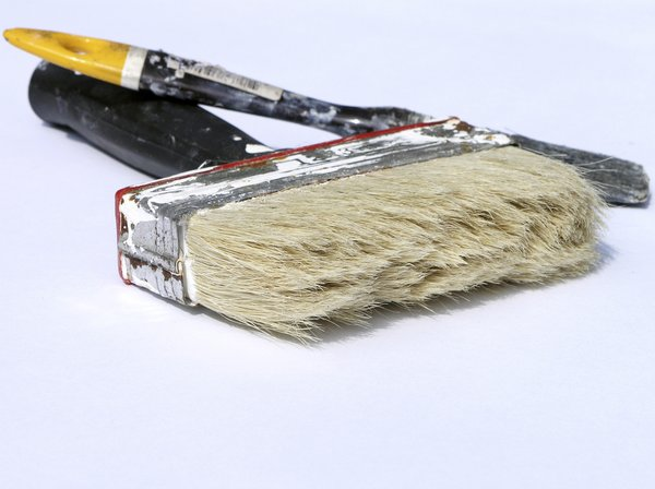 Paint brushes: used brushes