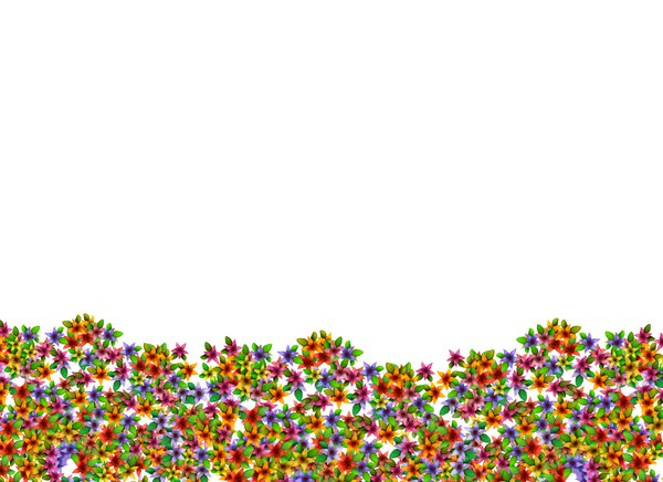 Flower wave 4: Floral border or design element, background or backdrop.