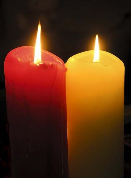 Candles: two candles