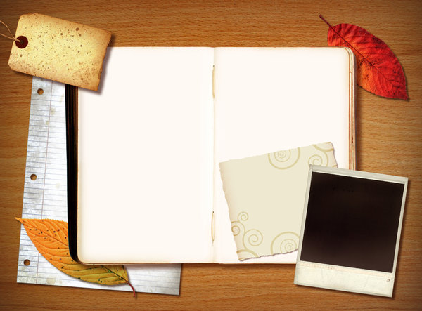 blank scrapbook pages
