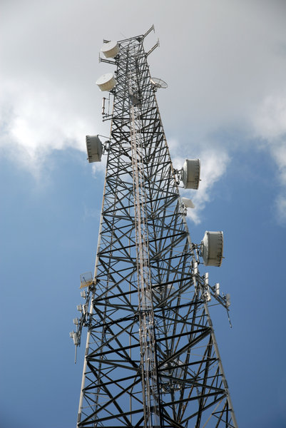 Communication Tower: A communication tower.