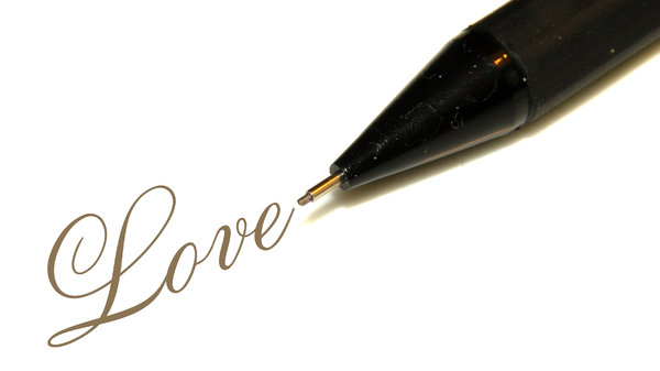 Pencil writes Love: no description