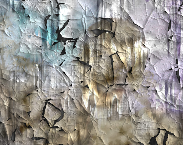 Grunge Flaking Paint Backgroun: Grungy flaking paint or poster paper, makes a fabulous background or texture. Pastel shades.
