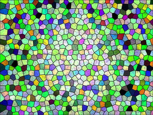 Colours 7: A series of digital abstract paintings with a stained glass effect.