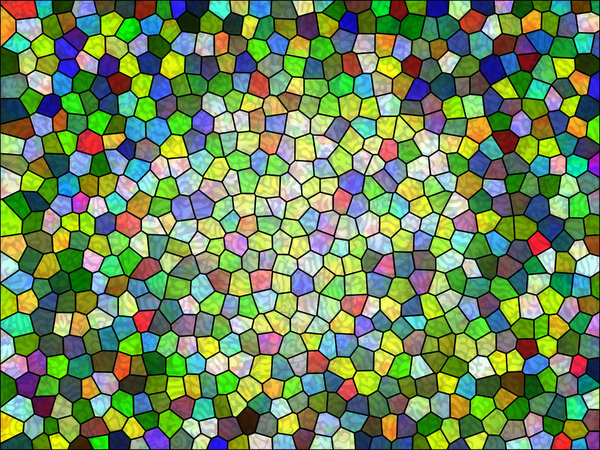 Colours 9: A series of digital abstract paintings with a stained glass effect.